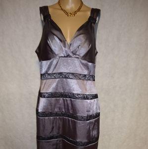 Bisou Bisou  Women Gray Dress Size 16 NWT